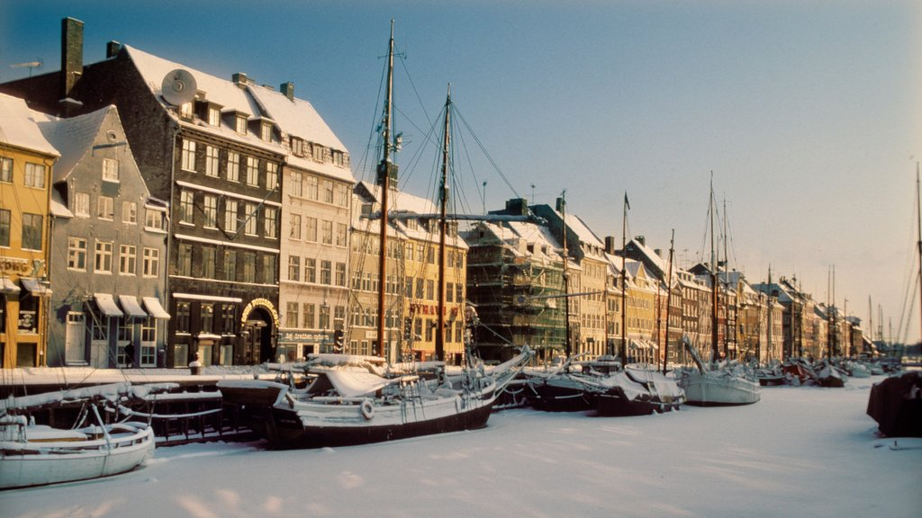 Nyhavn featuring a marina, boating and sailing
