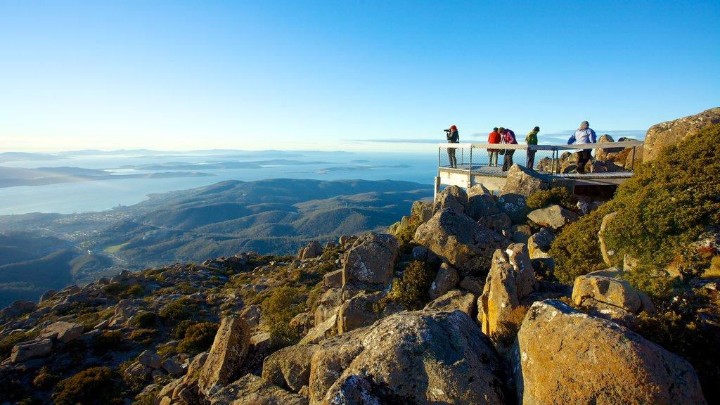 Mt. Wellington showing general coastal views, views and hiking or walking