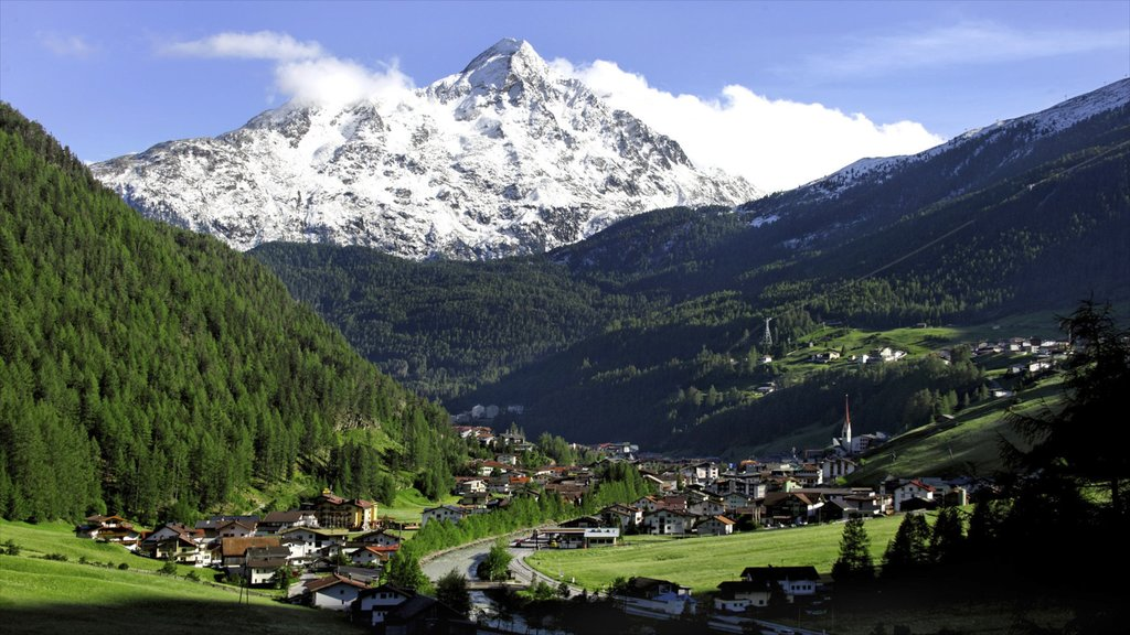 Austria which includes mountains, snow and landscape views