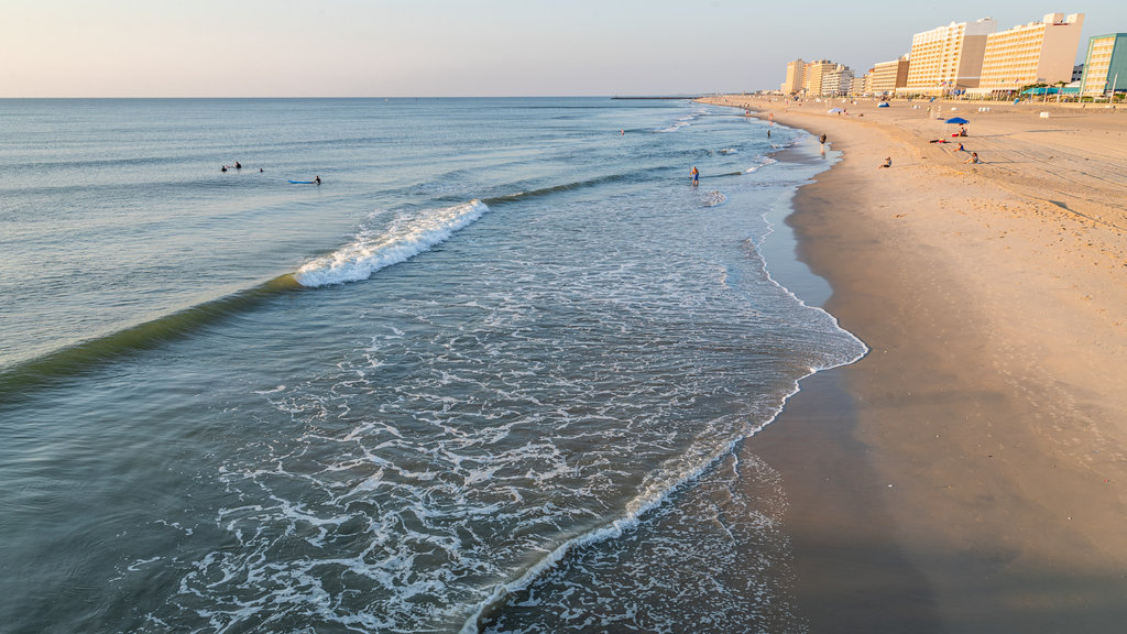 Virginia Beach featuring general coastal views, a coastal town and a beach