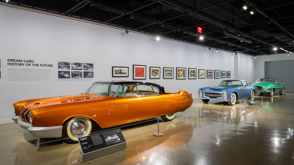 Petersen Automotive Museum featuring heritage elements and interior views