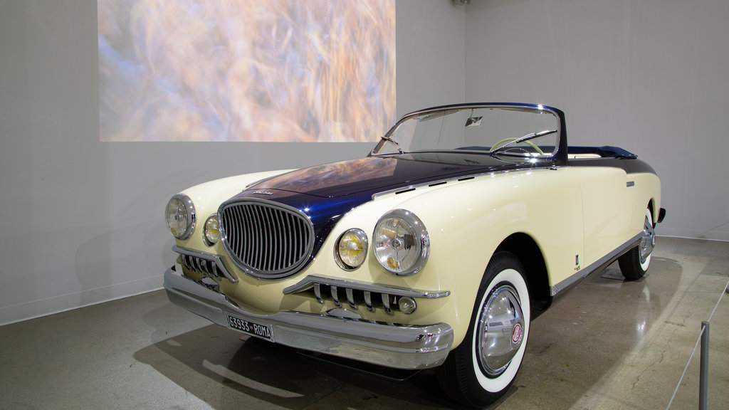 Petersen Automotive Museum showing interior views and heritage elements