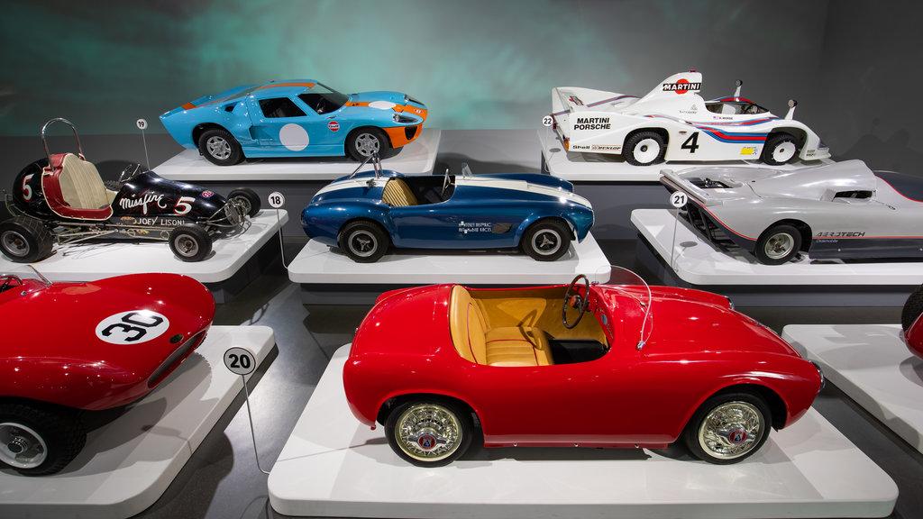 Petersen Automotive Museum showing interior views