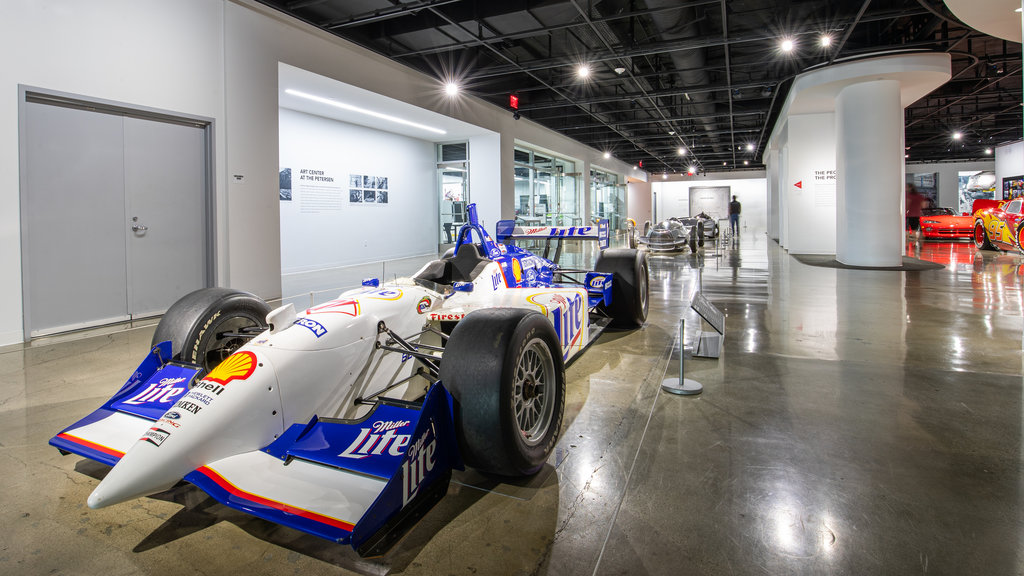 Petersen Automotive Museum which includes interior views and heritage elements