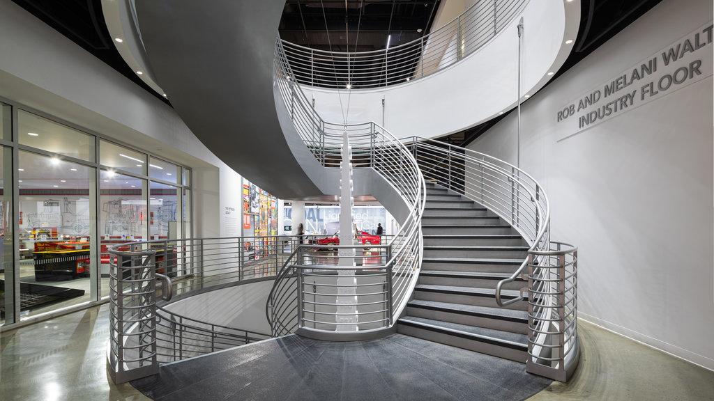 Petersen Automotive Museum featuring interior views