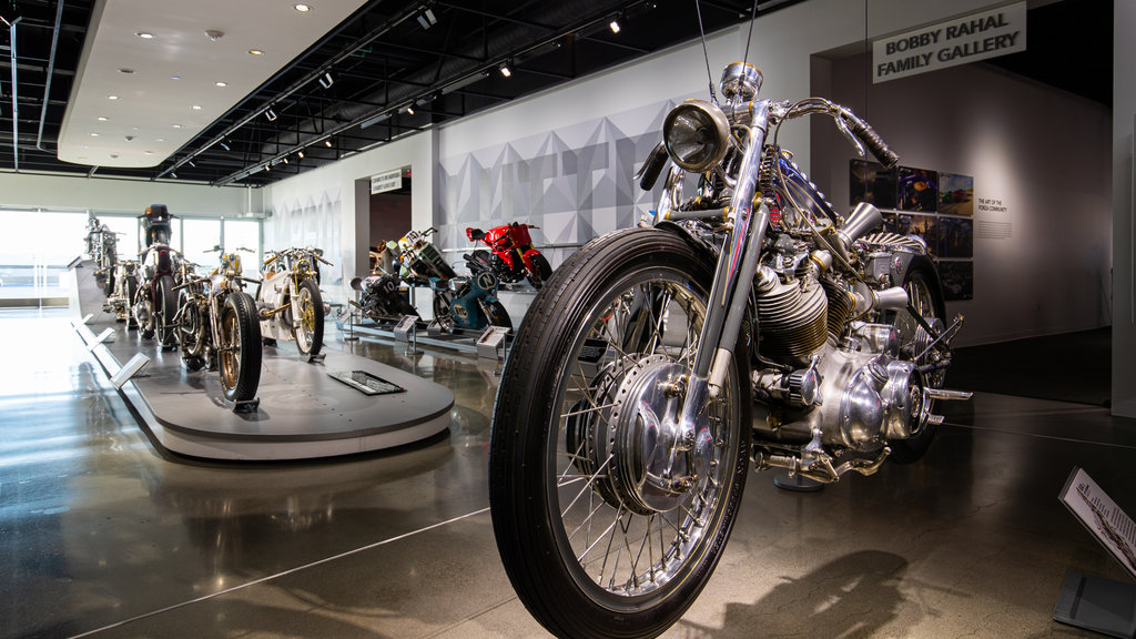 Petersen Automotive Museum which includes heritage elements and interior views