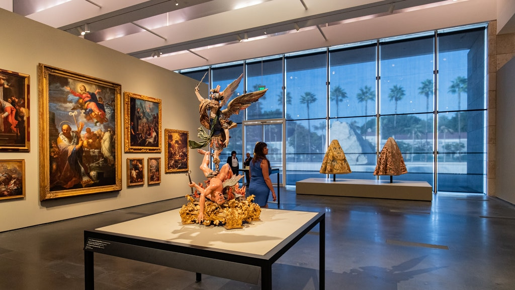 Los Angeles County Museum of Art featuring interior views and art