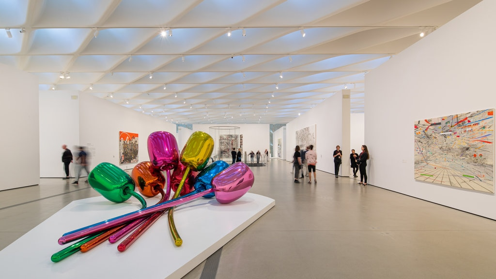 The Broad showing interior views and art
