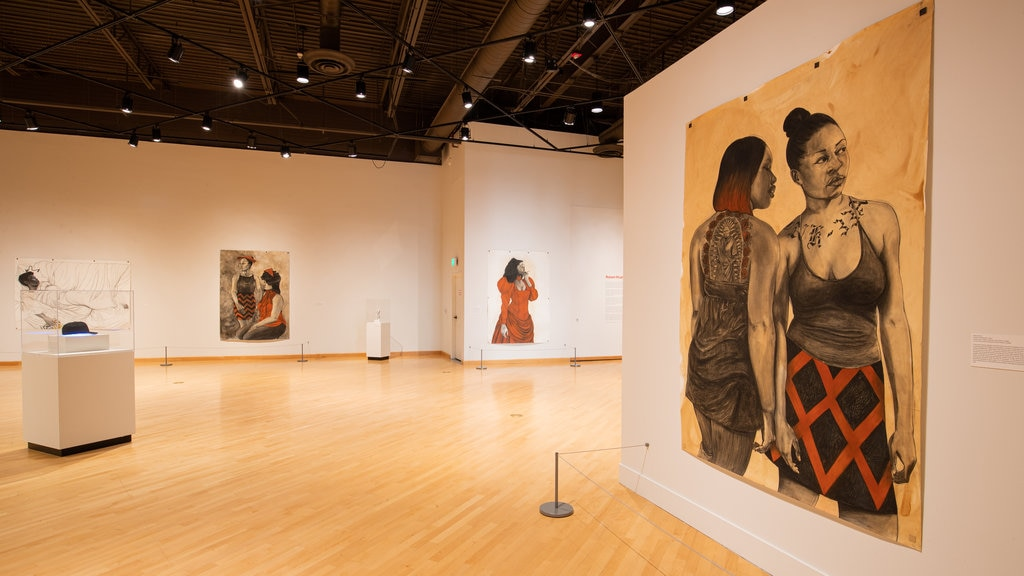 California African American Museum featuring art and interior views