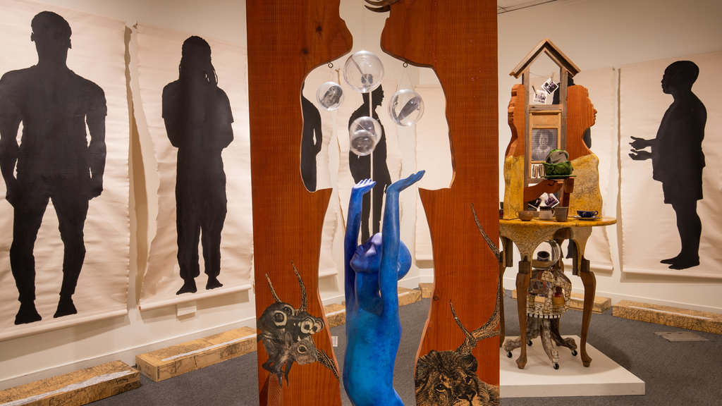California African American Museum featuring interior views and art
