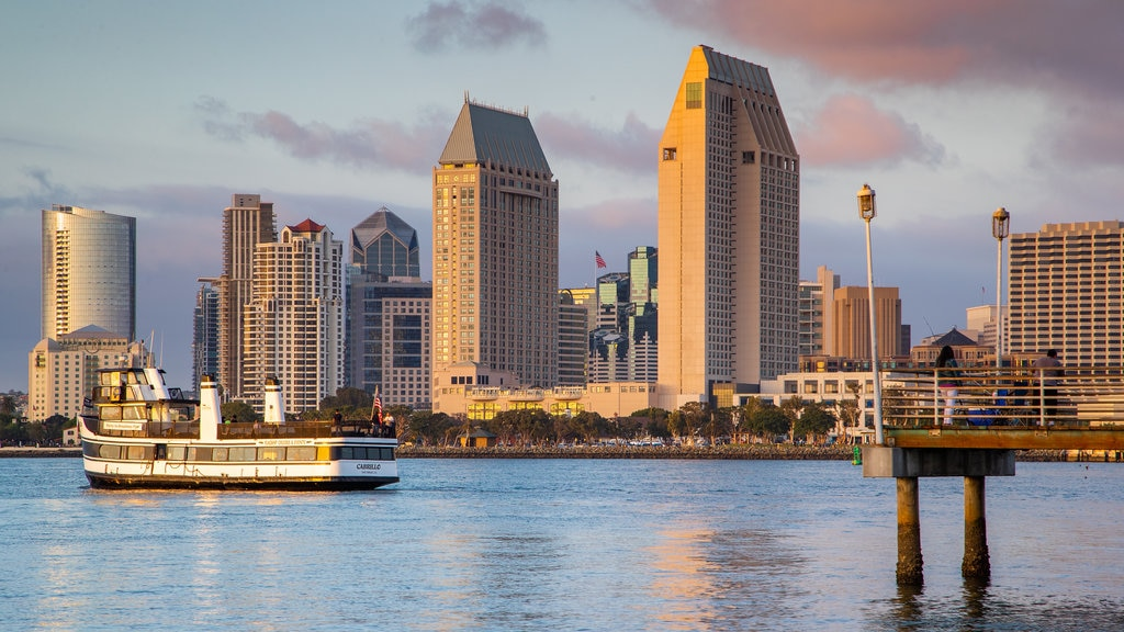 Coronado Ferry Landing featuring a bay or harbor, a city and cruising