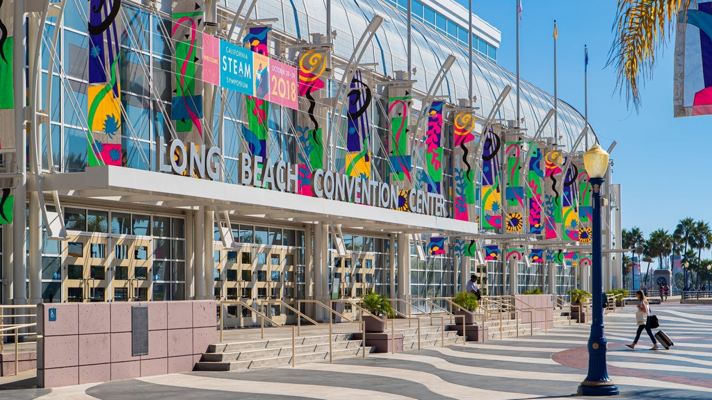 Long Beach Convention and Entertainment Center featuring signage