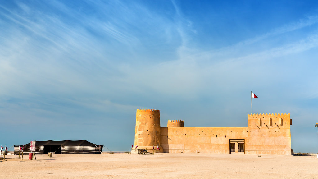 Al Zubarah Archaeological Site which includes heritage architecture and chateau or palace