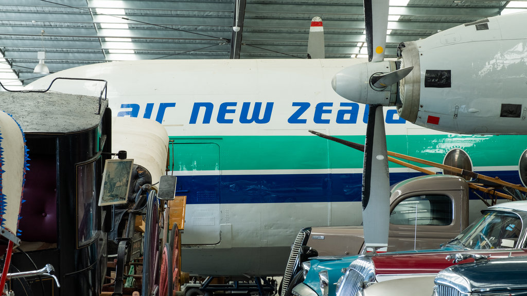 National Transport & Toy Museum showing signage and aircraft