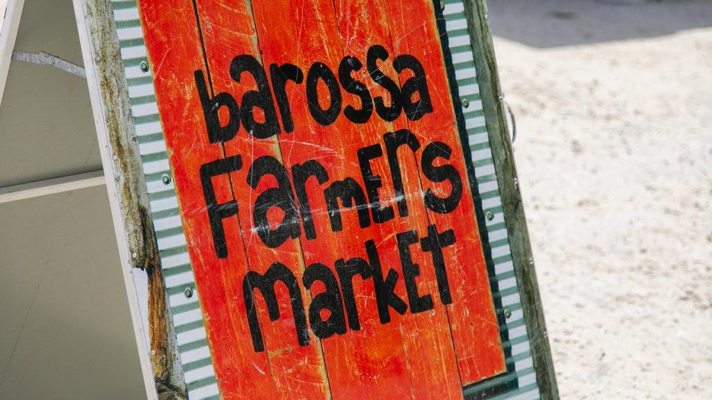 Barossa Farmers Market featuring signage