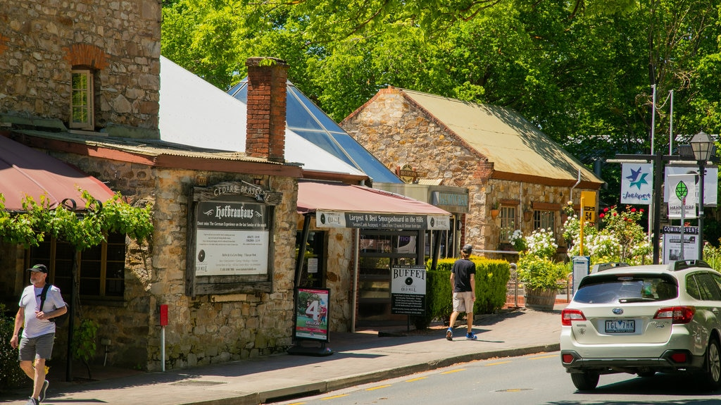 Hahndorf which includes a small town or village and street scenes