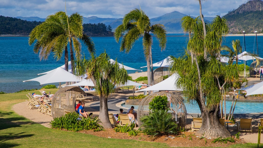 Daydream Island which includes a lake or waterhole, tropical scenes and a pool