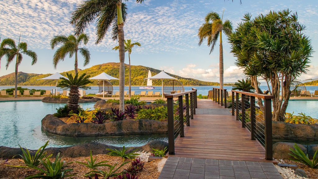 Daydream Island showing a pool and a bridge