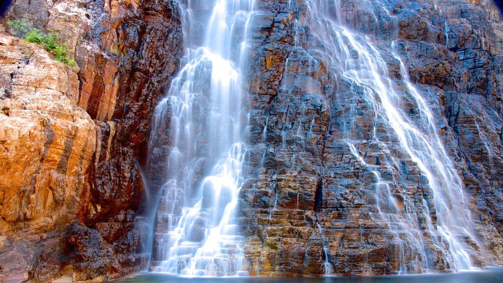 Twin Falls featuring a waterfall