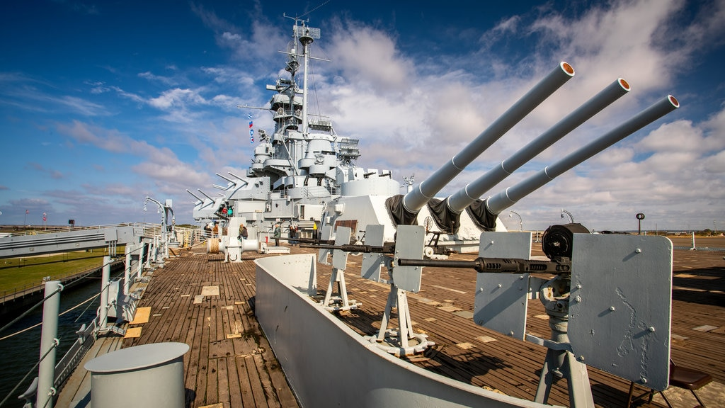 USS Alabama Battleship Memorial Park featuring military items