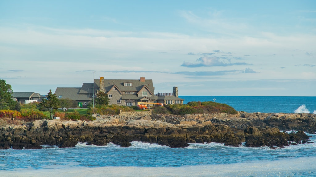 Bush Compound which includes rocky coastline, a coastal town and a house