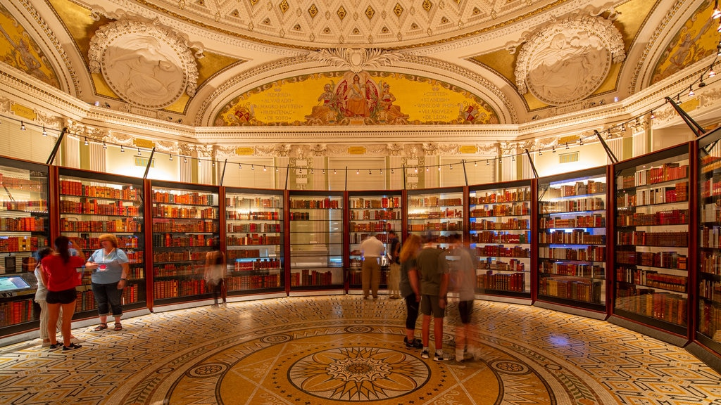 Library of Congress which includes interior views as well as a small group of people