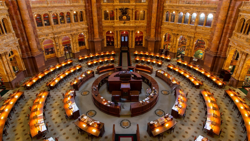 Library of Congress featuring interior views, heritage elements and an administrative buidling