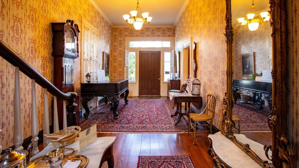 Cannonball House mostrando una casa, elementos del patrimonio y vistas interiores