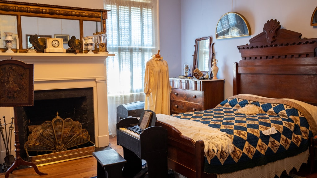 Cannonball House que incluye vistas interiores, una casa y elementos del patrimonio