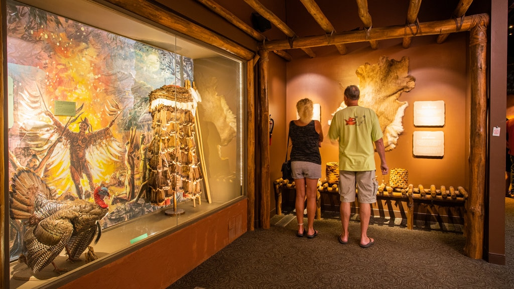 Museum of the Cherokee Indian showing interior views as well as a couple