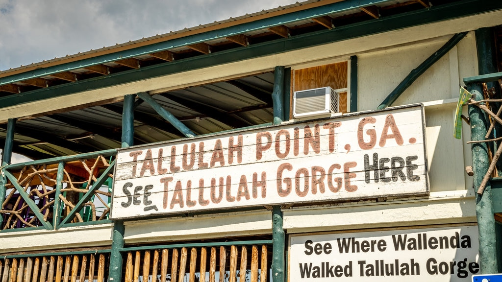 Clarkesville featuring signage