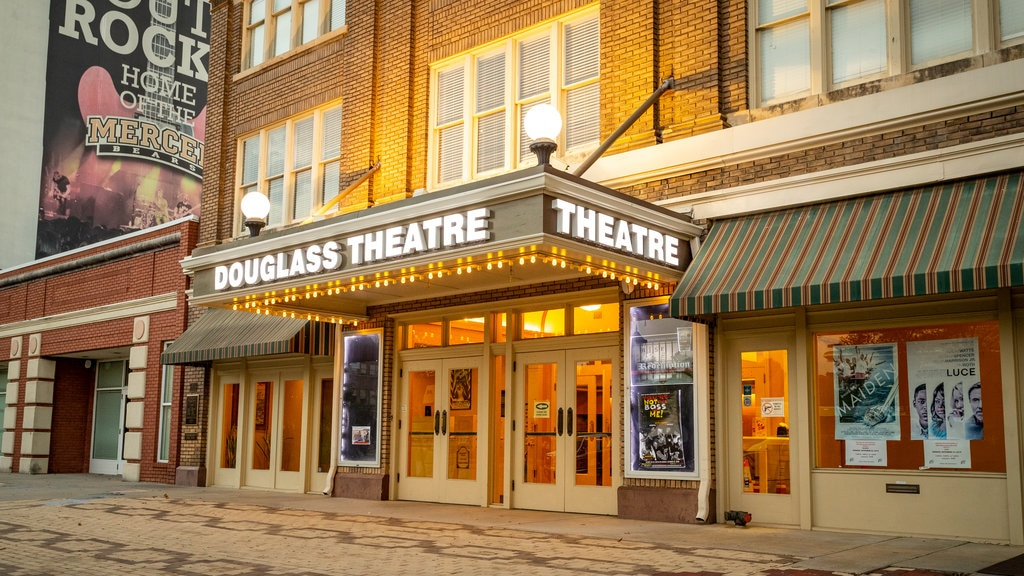Douglass Theater showing signage