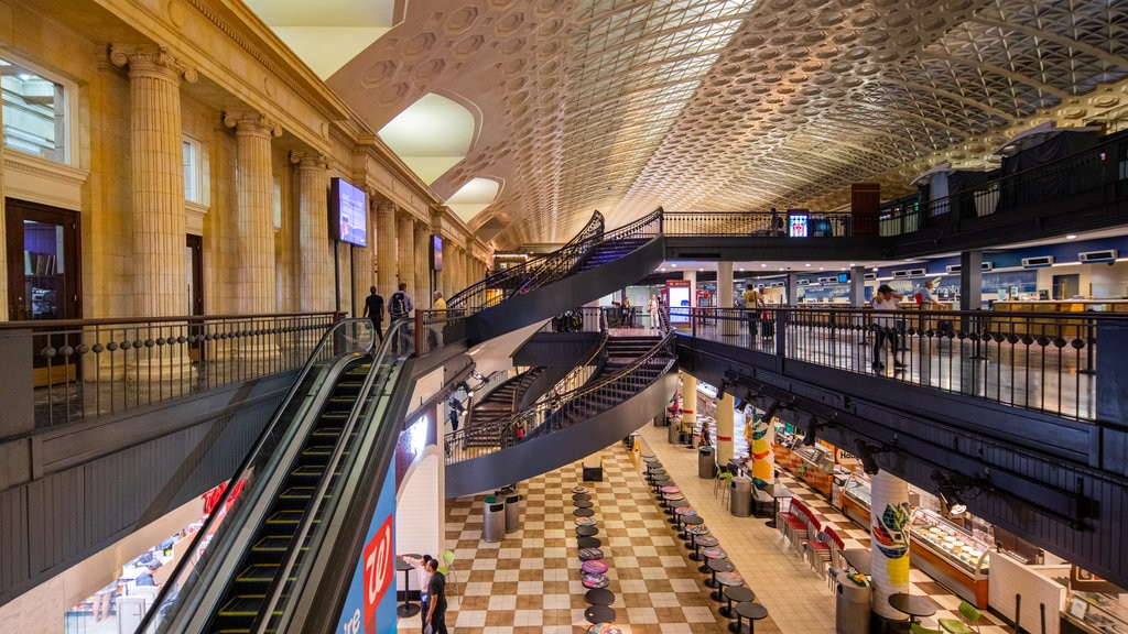 Union Station Shopping Center showing interior views