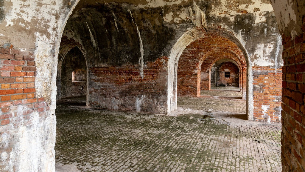 Fort Morgan featuring heritage elements and interior views