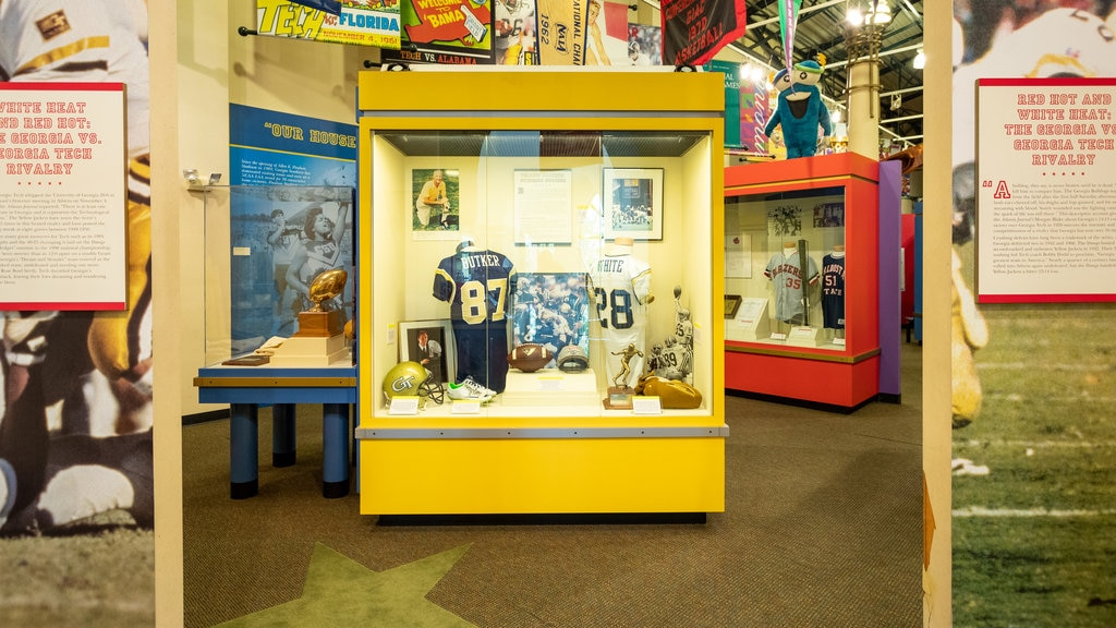 Georgia Sports Hall of Fame showing interior views