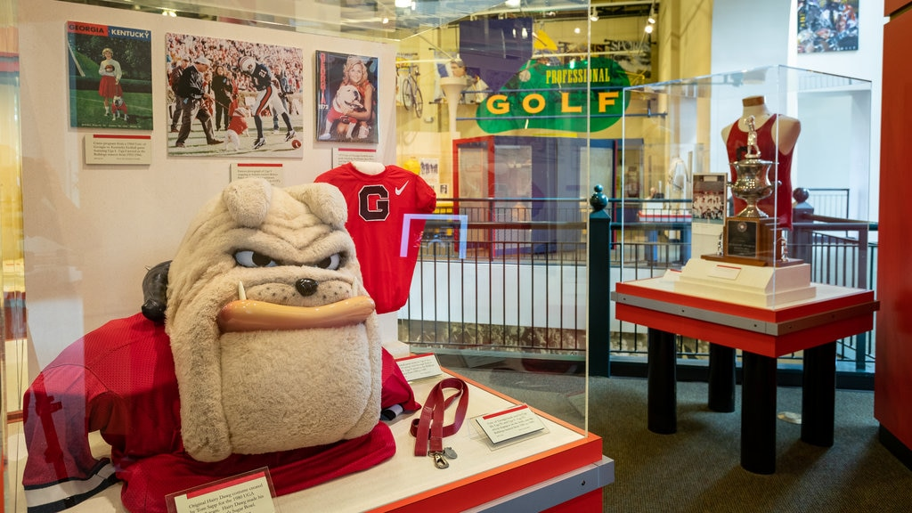 Georgia Sports Hall of Fame featuring interior views
