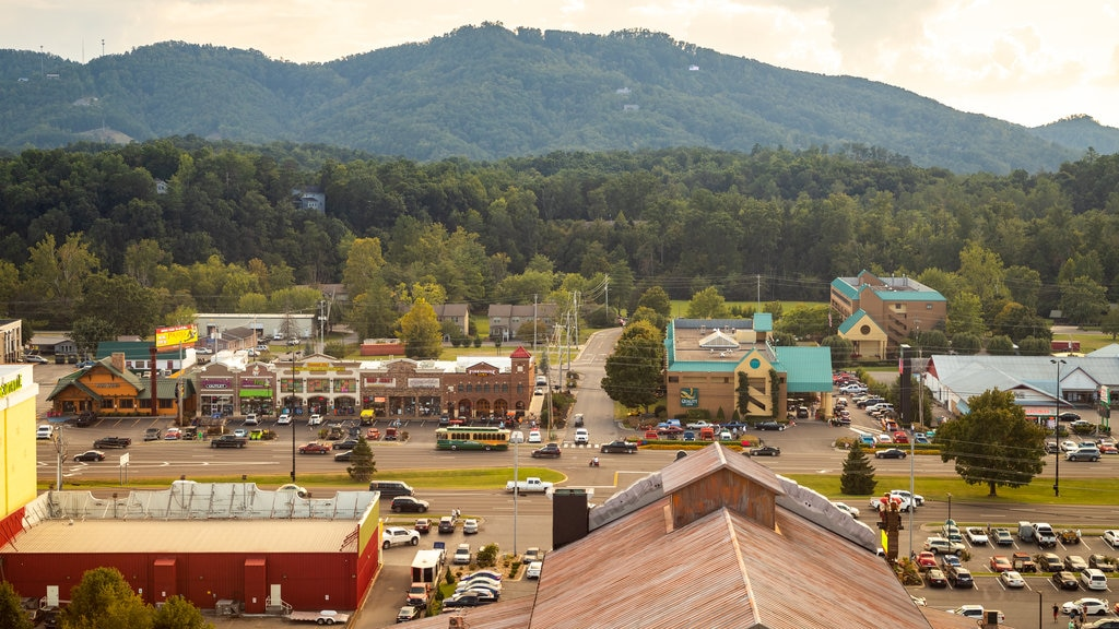 Great Smoky Mountain Wheel which includes a small town or village and landscape views