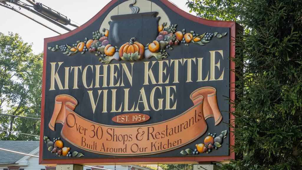 Kitchen Kettle Village featuring signage