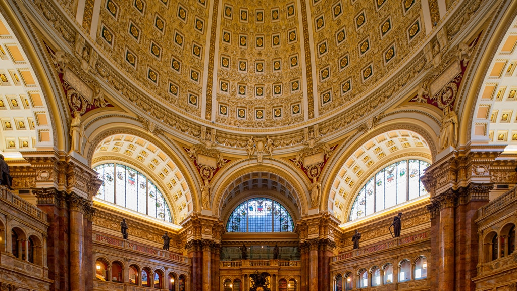 Library of Congress showing interior views, an administrative buidling and heritage elements
