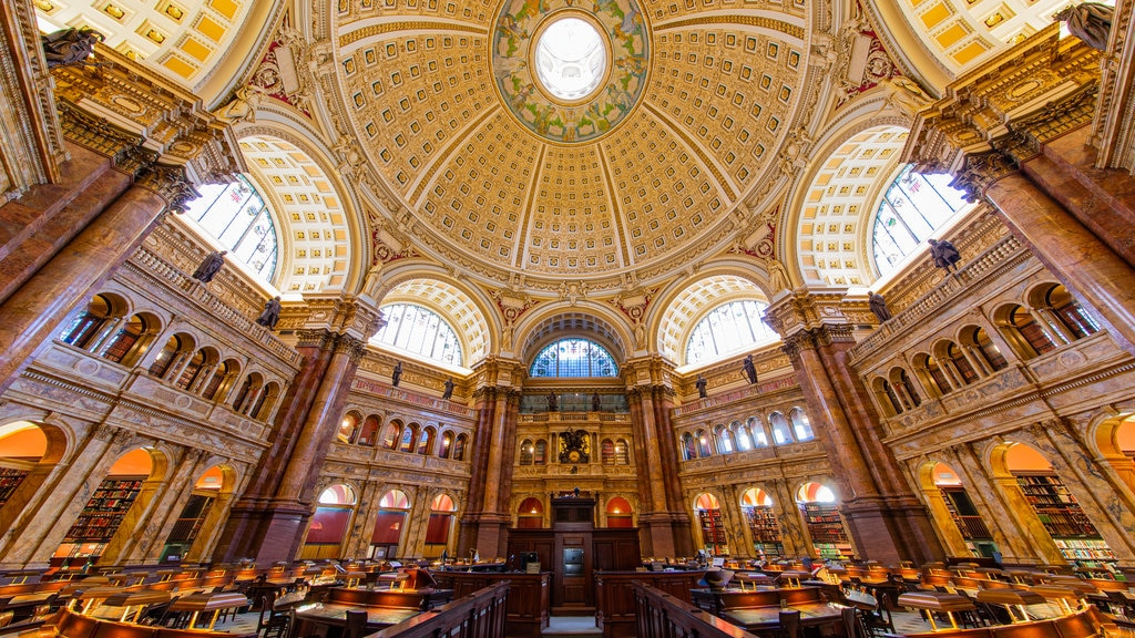 Library of Congress which includes heritage elements, interior views and an administrative buidling