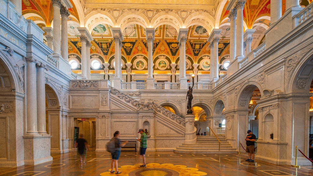 Library of Congress showing interior views, heritage elements and an administrative buidling
