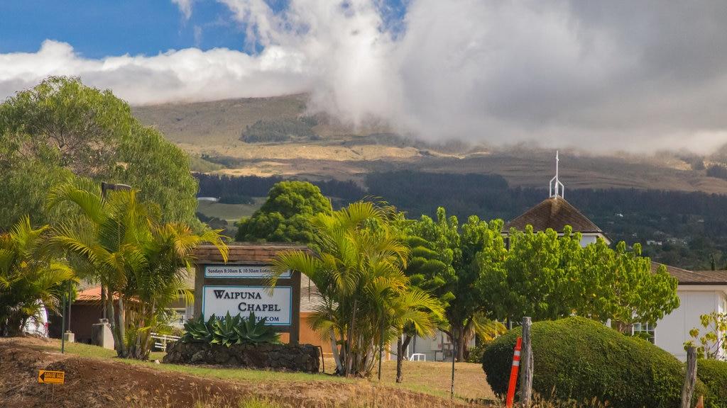 Makawao que incluye señalización y vistas de paisajes