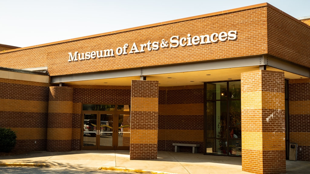 Museum of Arts and Sciences which includes signage