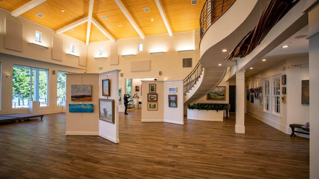 Orange Beach Art Center showing art and interior views