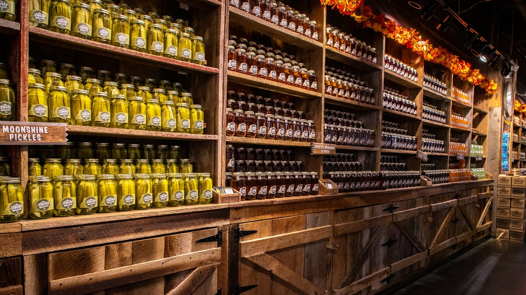 Ole Smoky Moonshine Distillery featuring drinks or beverages and interior views