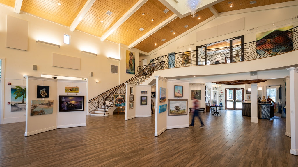 Orange Beach Art Center which includes art and interior views