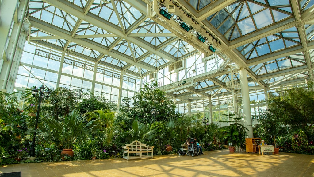 State Botanical Garden of Georgia showing interior views and a garden