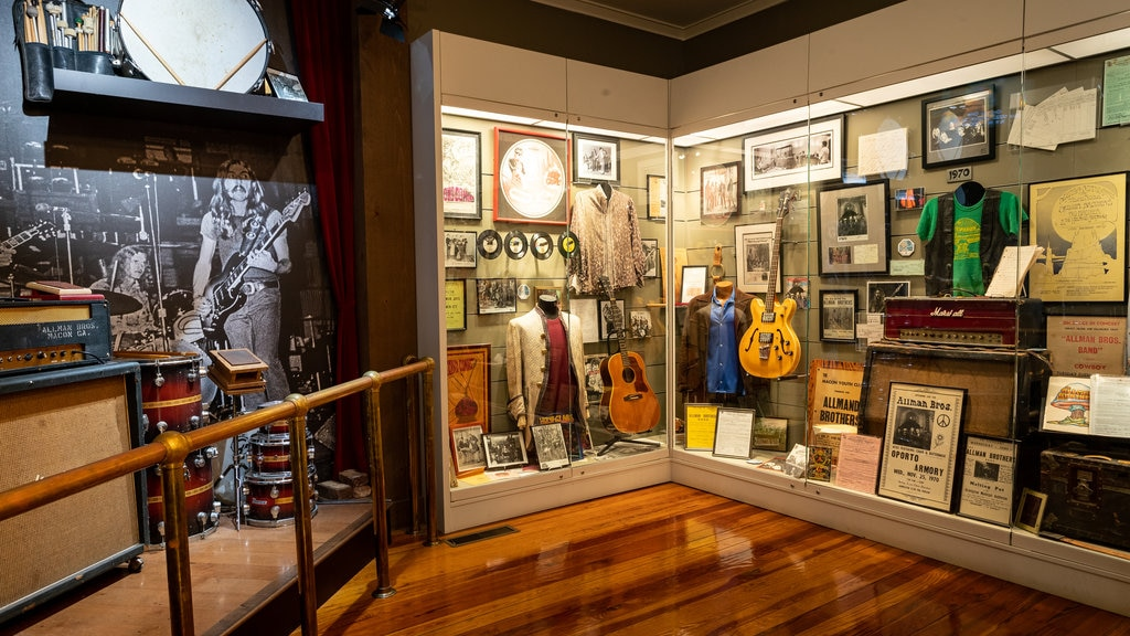 The Allman Brothers Band Museum at the Big House featuring interior views
