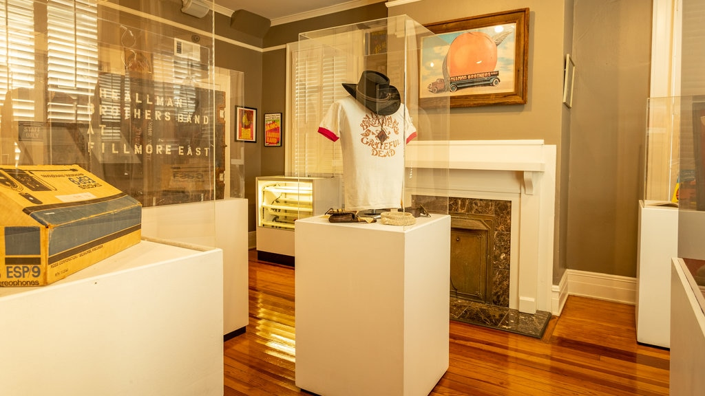 The Allman Brothers Band Museum at the Big House which includes interior views