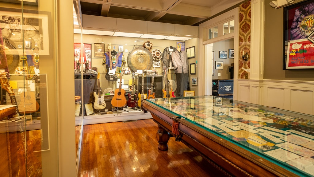 The Allman Brothers Band Museum at the Big House showing interior views